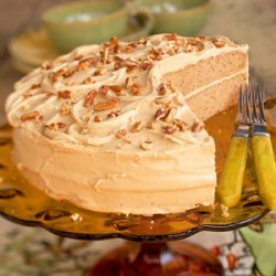Oatmeal Layer Cake with Caramel-Pecan Frosting recipe