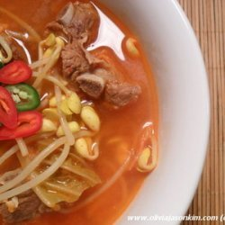 Kimchi Jjigae w Kongnamul (Spicy Kimchi Stew w Soybean Sprouts)