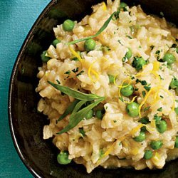 Lemon Risotto with Peas, Tarragon, and Leeks recipe