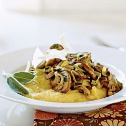 Soft Polenta with Wild Mushroom Saute recipe