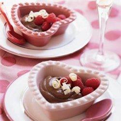 Bittersweet Chocolate Pudding with Raspberries