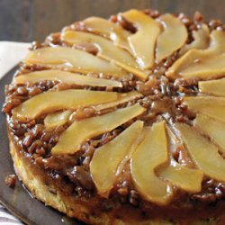 Pear and Pecan Upside-down Cake