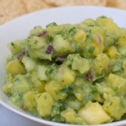 Pineapple and Cucumber Guacamole (Guacamole con Piña y Pepino) recipe