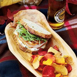 Pancetta-Arugula-Turkey Sandwiches recipe
