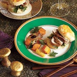 Pork Tenderloin with Herbed Biscuits