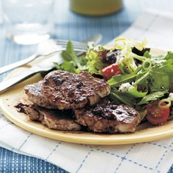 Pork Medallions with Spicy Pomegranate-Blueberry Reduction recipe