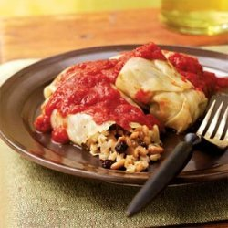 Barley-Stuffed Cabbage Rolls with Pine Nuts and Currants
