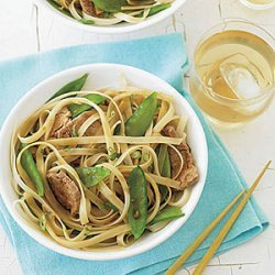 Stir-Fried Pork, Snow Peas and Rice Noodles