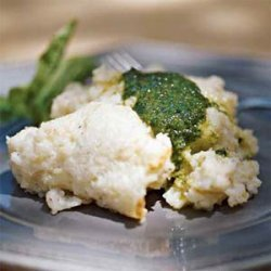 Grits Casserole with Pesto Butter