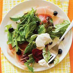 Blueberry and Prosciutto Salad