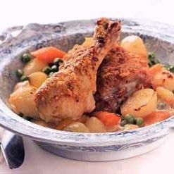 Gratineed Chicken in Cream Sauce (Poulet à la Fermiere)