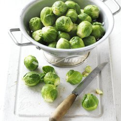 Brussels Sprout and Chicken Stir-Fry