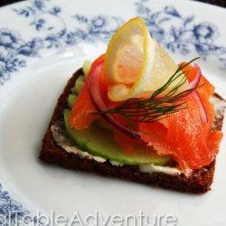 Salmon Smørrebrød Canapes