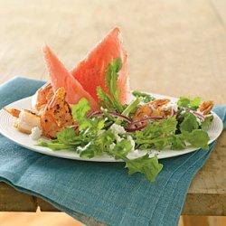 Watermelon, Feta, and Grilled Shrimp Salad