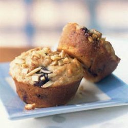 Blueberry Power Muffins with Almond Streusel