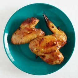Barbecued Spicy Apricot-Glazed Chicken Wings