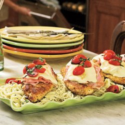 Pan-Fried Chicken-and-Ham Parmesan recipe