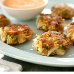Mini Crab Cakes with Spicy Red Pepper Sauce recipe