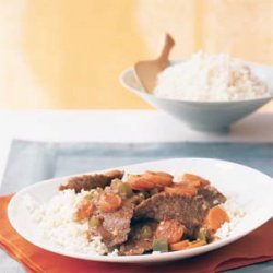 Stir-Fried Beef with Ginger-Carrot Sauce