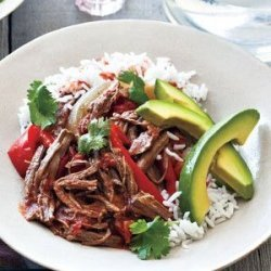 Slow Cooker Cuban Braised Beef and Peppers recipe