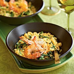 Pan-Seared Shrimp and Arugula Risotto recipe