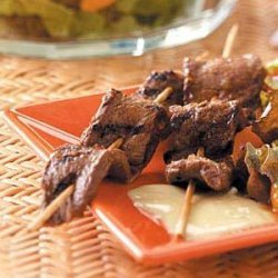 Beef Kabobs with Chutney Sauce recipe