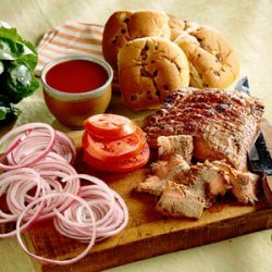Flank Steak Sandwiches with Apple Barbecue Sauce recipe