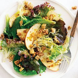 Fall Green Salad with Apples, Nuts, and Pain d'Epice Dressing recipe