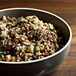 Red Quinoa and Lentil Pilaf