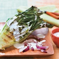 Grilled Romaine Salad With Buttermilk-Chive Dressing