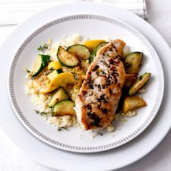 Sauteed Zucchini with Lemon-Thyme Chicken