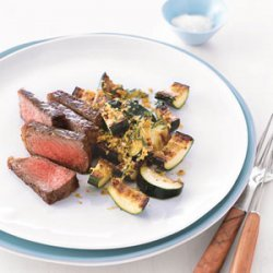 Steak with Golden Zucchini