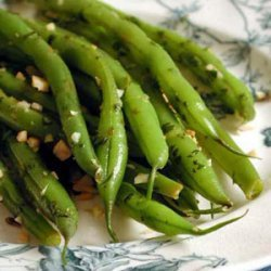 Green Beans with Toasted Almond Gremolata