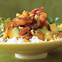 Shrimp and Avocado in Tamarind Sauce