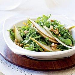 Arugula and Pear Salad with Toasted Walnuts