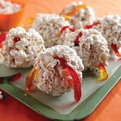 Wormy Popcorn Balls recipe