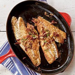 Pan-Roasted Snapper Fillets with Sun-Dried Tomatoes and Garlic recipe
