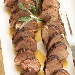 Sage-rubbed Pork Tenderloins with Sage Butter recipe