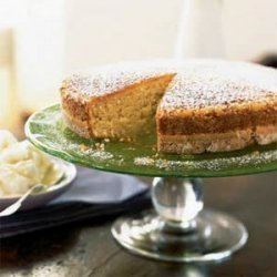Coconut Butter Cake with Ginger Ice Milk