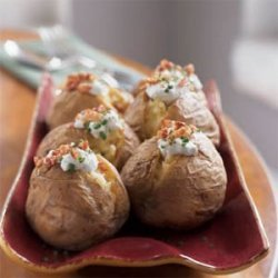Yukon Gold Potatoes with Gorgonzola and Pancetta