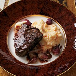 Spice-Glazed Lamb Chops with Red Wine-Coffee Pan Sauce