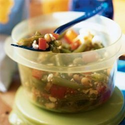 White Bean, Tomato, and Green Bean Salad