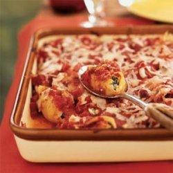 Artichoke, Spinach, and Feta Stuffed Shells