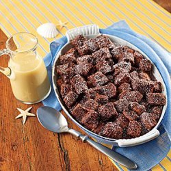 Chocolate Bread Pudding with Whiskey Sauce recipe