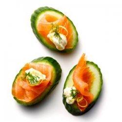 Salmon and Cucumber Bites