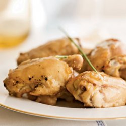 Honey-Pomegranate Roasted Chicken Thighs
