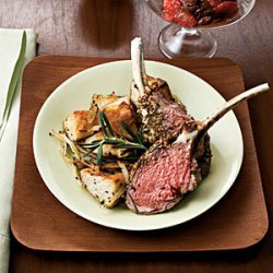 Herb-Crusted Rack of Lamb With Rosemary Potatoes recipe