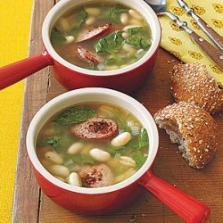 White Bean, Sausage and Spinach Soup