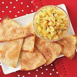 Cinnamon-Sugar Tortilla Crisps with Pineapple Salsa