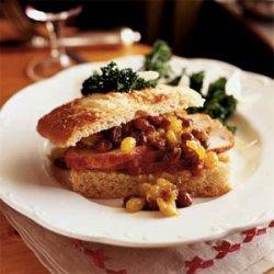 Barbecue-Rubbed Pork Loin with Raisin-Mustard Chutney